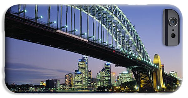 Connection iPhone Cases - Low Angle View Of A Bridge, Sydney iPhone Case by Panoramic Images