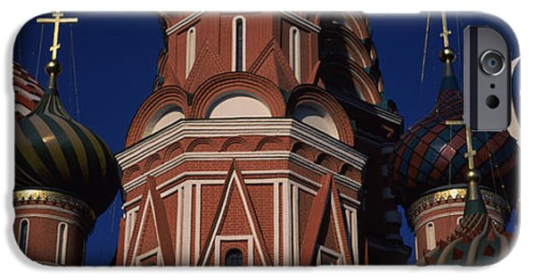 Russian Cross iPhone Cases - Low Angle View Of A Church, St. Basils iPhone Case by Panoramic Images