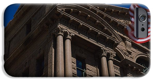 Flag iPhone Cases - Low Angle View Of A Courthouse, Fort iPhone Case by Panoramic Images