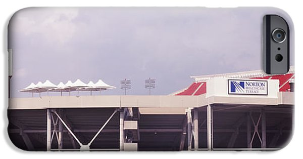 Papa iPhone Cases - Low Angle View Of A Football Stadium iPhone Case by Panoramic Images