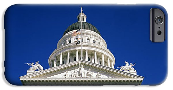 Built Structure iPhone Cases - Low Angle View Of A Government iPhone Case by Panoramic Images