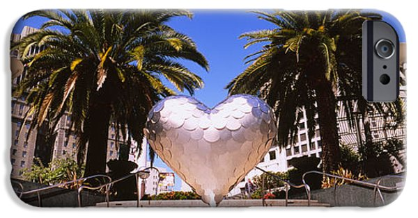 Union Square iPhone Cases - Low Angle View Of A Heart Shape iPhone Case by Panoramic Images