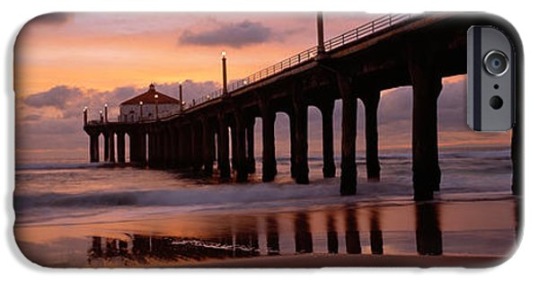 Built Structure iPhone Cases - Low Angle View Of A Hut On A Pier iPhone Case by Panoramic Images