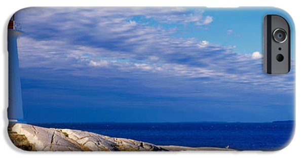 Sea iPhone Cases - Low Angle View Of A Lighthouse, Peggys iPhone Case by Panoramic Images