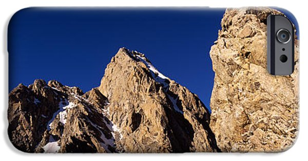 Getting Away From It All iPhone Cases - Low Angle View Of A Man Climbing iPhone Case by Panoramic Images