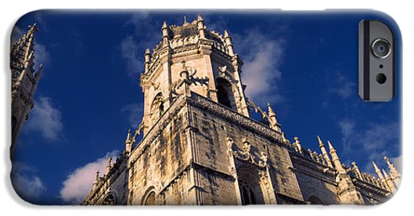 Built Structure iPhone Cases - Low Angle View Of A Monastery, Mosteiro iPhone Case by Panoramic Images