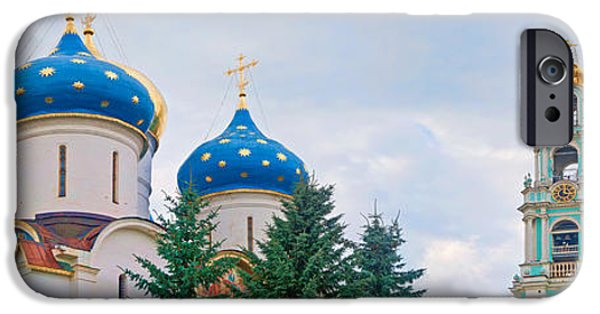 Russian Cross iPhone Cases - Low Angle View Of A Monastery, Trinity iPhone Case by Panoramic Images
