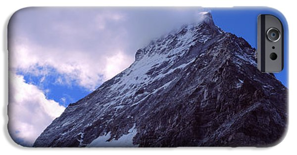 Mountain iPhone Cases - Low Angle View Of A Mountain Peak, Mt iPhone Case by Panoramic Images