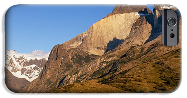 Mountain iPhone Cases - Low Angle View Of A Mountain Range iPhone Case by Panoramic Images