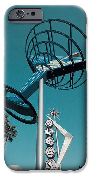 Sign iPhone Cases - Low Angle View Of A Neon Sign, Fremont iPhone Case by Panoramic Images