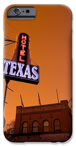 Board iPhone Cases - Low Angle View Of A Neon Sign iPhone Case by Panoramic Images