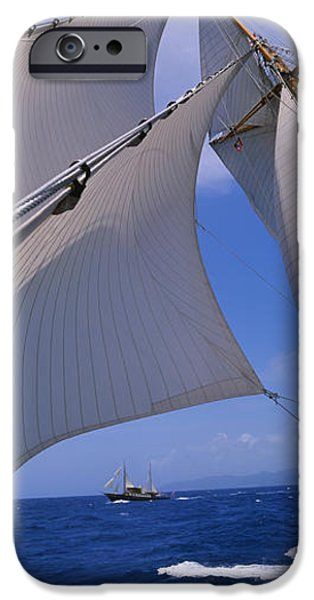 West Indies iPhone Cases - Low Angle View Of A Sailboats Mast iPhone Case by Panoramic Images