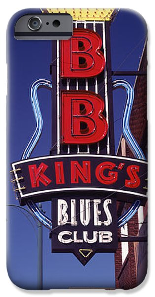 B.b.king iPhone Cases - Low Angle View Of A Signboard iPhone Case by Panoramic Images