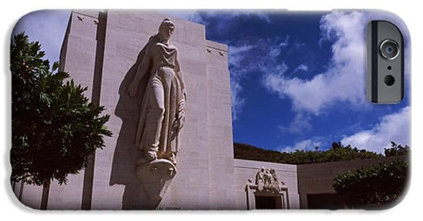 Built Structure iPhone Cases - Low Angle View Of A Statue, National iPhone Case by Panoramic Images