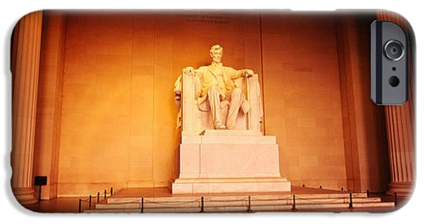 President iPhone Cases - Low Angle View Of A Statue Of Abraham iPhone Case by Panoramic Images