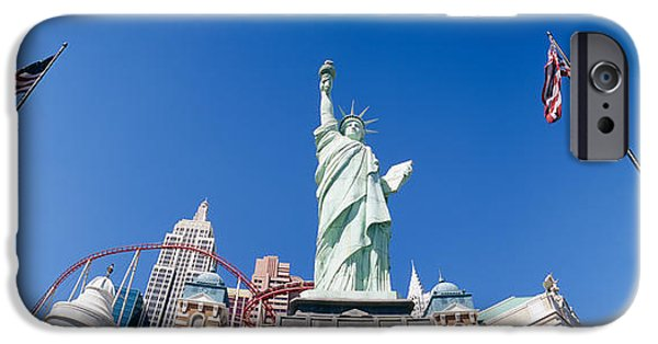 Rollercoaster Photographs iPhone Cases - Low Angle View Of A Statue, Replica iPhone Case by Panoramic Images