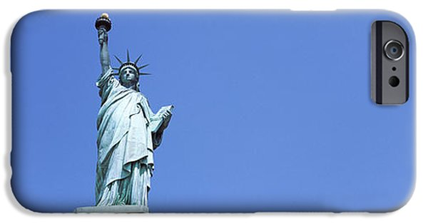 Stability iPhone Cases - Low Angle View Of A Statue, Statue Of iPhone Case by Panoramic Images