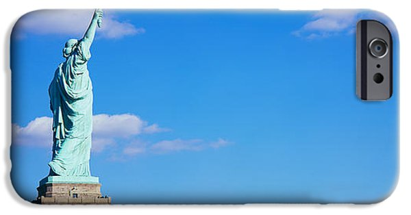 Statue iPhone Cases - Low Angle View Of A Statue, Statue iPhone Case by Panoramic Images