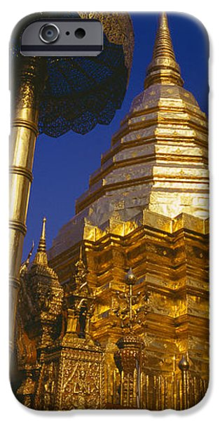 Buddhism iPhone Cases - Low Angle View Of A Temple, Wat iPhone Case by Panoramic Images