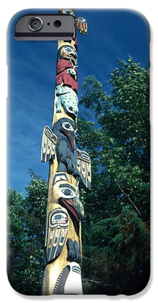 Tongass iPhone Cases - Low Angle View Of A Totem Pole, Totem iPhone Case by Panoramic Images