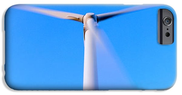Power iPhone Cases - Low Angle View Of A Wind Turbine iPhone Case by Panoramic Images