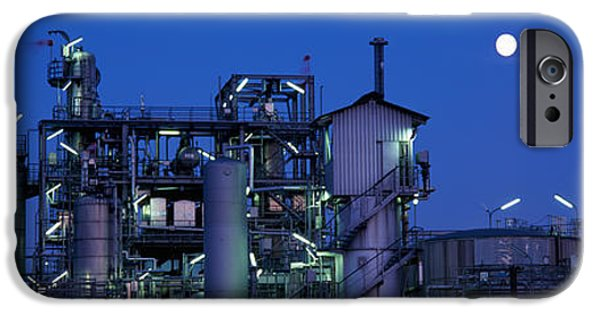 Fuel And Power Generation iPhone Cases - Low Angle View Of An Oil Refinery iPhone Case by Panoramic Images