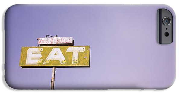 Board iPhone Cases - Low Angle View Of An Old Sign Board iPhone Case by Panoramic Images