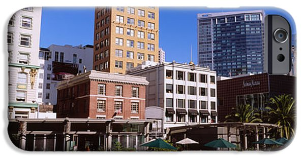 Union Square iPhone Cases - Low Angle View Of Buildings At A Town iPhone Case by Panoramic Images