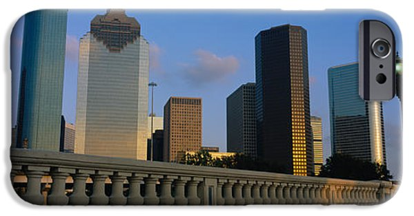 Bank Of America iPhone Cases - Low Angle View Of Buildings, Houston iPhone Case by Panoramic Images