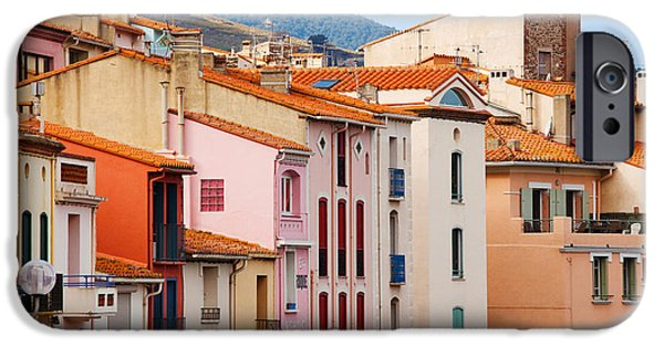 Languedoc iPhone Cases - Low Angle View Of Buildings In A Town iPhone Case by Panoramic Images