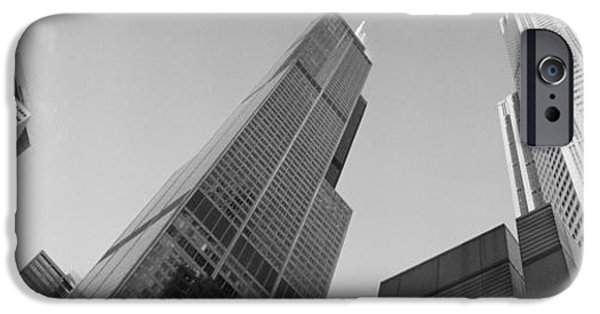 Sears Tower iPhone Cases - Low Angle View Of Buildings, Sears iPhone Case by Panoramic Images