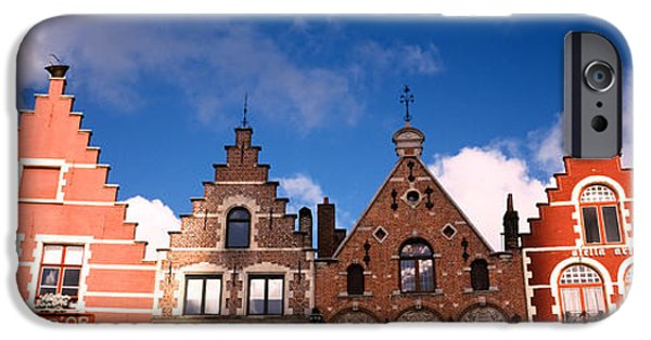 Flemish iPhone Cases - Low Angle View Of Colorful Buildings iPhone Case by Panoramic Images