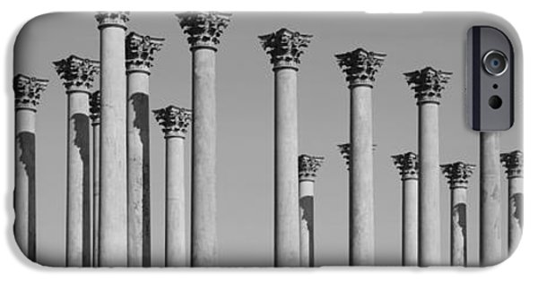 Built Structure iPhone Cases - Low Angle View Of Columns, National iPhone Case by Panoramic Images