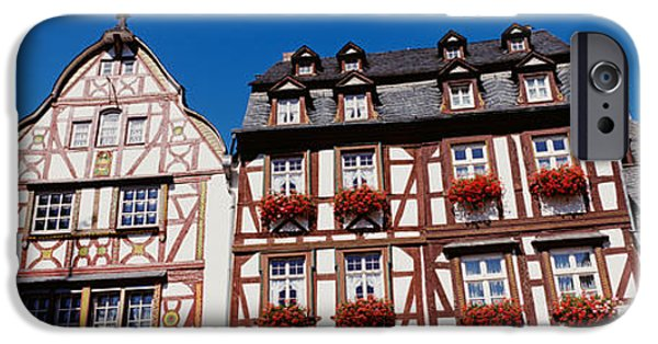 Facade iPhone Cases - Low Angle View Of Decorated Buildings iPhone Case by Panoramic Images