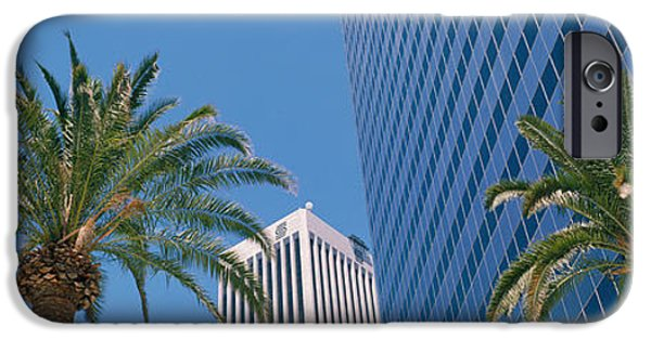 Finance iPhone Cases - Low Angle View Of Downtown Office iPhone Case by Panoramic Images