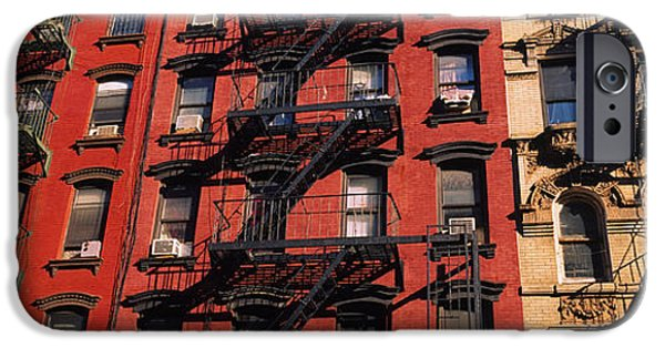 Staircase iPhone Cases - Low Angle View Of Fire Escapes iPhone Case by Panoramic Images