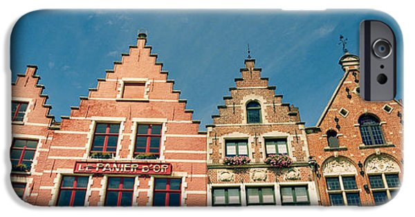 Flemish iPhone Cases - Low Angle View Of Gabled Houses iPhone Case by Panoramic Images
