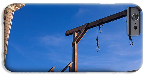Punishment iPhone Cases - Low Angle View Of Gallows, Tombstone iPhone Case by Panoramic Images