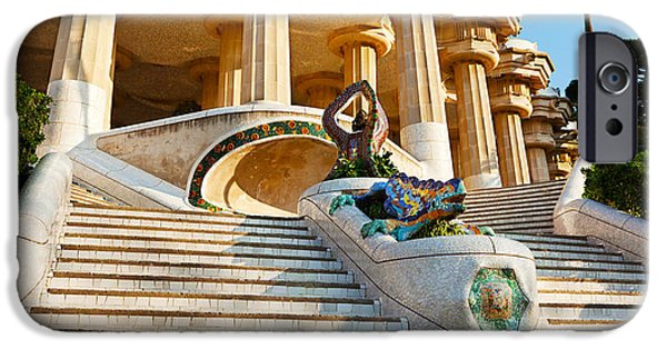 Art Of Building iPhone Cases - Low Angle View Of Hall Of Columns, Park iPhone Case by Panoramic Images