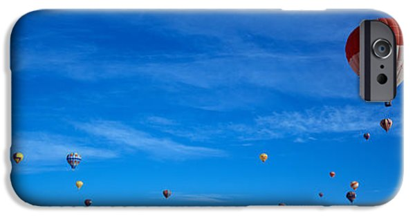 Hot Air Balloon iPhone Cases - Low Angle View Of Hot Air Balloons iPhone Case by Panoramic Images