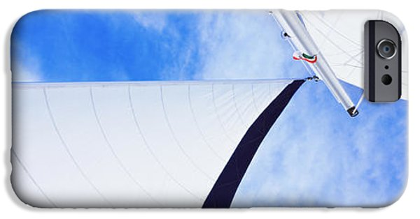 Baja iPhone Cases - Low Angle View Of Sails On A Sailboat iPhone Case by Panoramic Images