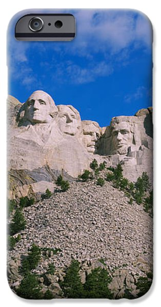 Mount Rushmore iPhone Cases - Low Angle View Of Sculptures Of Us iPhone Case by Panoramic Images