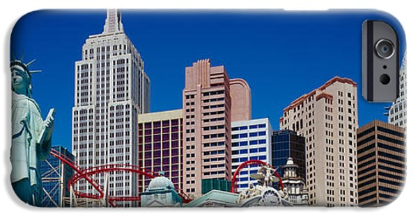 Model iPhone Cases - Low Angle View Of Skyscrapers, New York iPhone Case by Panoramic Images