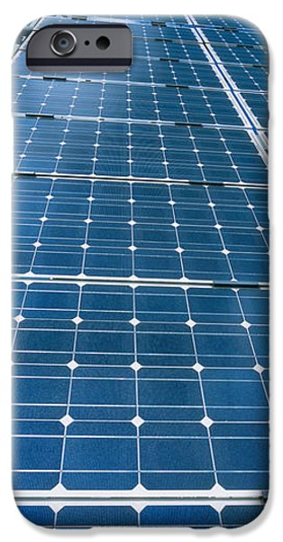 Technology iPhone Cases - Low Angle View Of Solar Panels, Germany iPhone Case by Panoramic Images