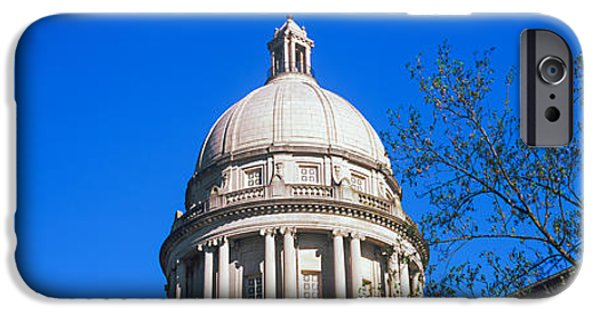 Franklin iPhone Cases - Low Angle View Of State Capitol iPhone Case by Panoramic Images