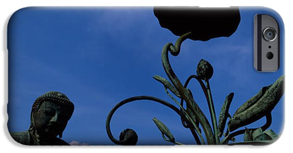 Buddhism iPhone Cases - Low Angle View Of Statue Of Daibutsu iPhone Case by Panoramic Images