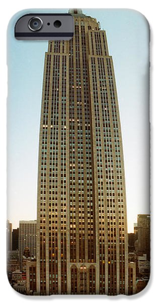 Art Of Building iPhone Cases - Low Angle View Of The Empire State iPhone Case by Panoramic Images