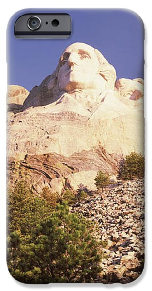 Mount Rushmore iPhone Cases - Low Angle View Of The Mt Rushmore iPhone Case by Panoramic Images