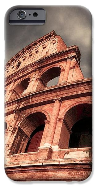 Low angle view of the roman Colosseum iPhone Case by Stefano Senise