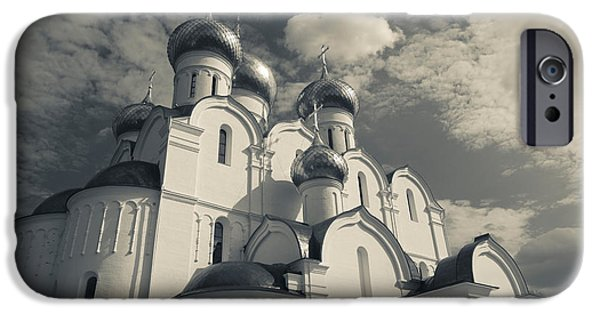 Russian Cross iPhone Cases - Low Angle View Of The Uspenski iPhone Case by Panoramic Images